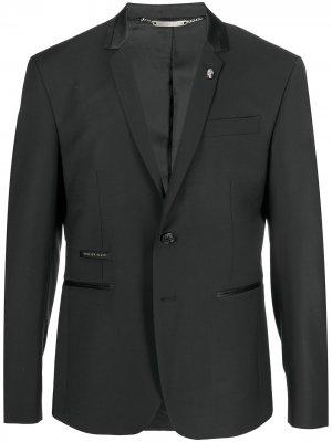 Пиджак с декором Skull Philipp Plein. Цвет: черный