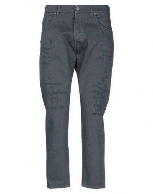 Джинсовые брюки 2 MEN. Цвет: стальной серый