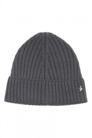 Серая шапка из шерсти Bosco. Цвет: серый
