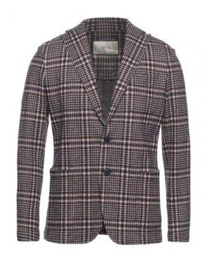 Пиджак ALTEA. Цвет: темно-коричневый