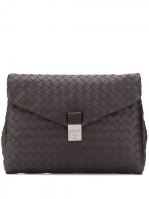 Сумка для ноутбука с плетением Intrecciato Bottega Veneta. Цвет: коричневый