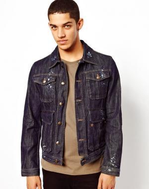 Джинсовая куртка Just Cavalli. Цвет: синий
