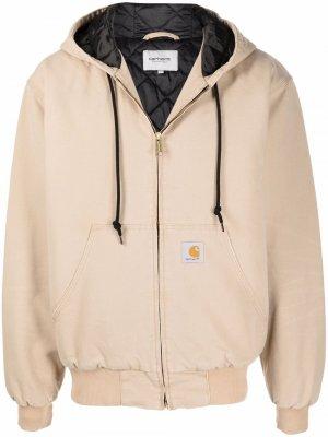 Куртка с капюшоном и нашивкой-логотипом Carhartt WIP. Цвет: нейтральные цвета
