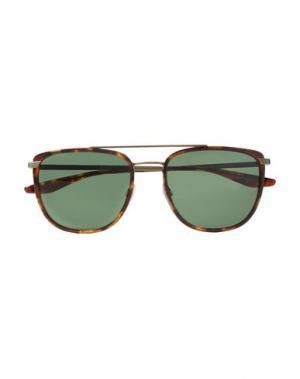 Солнечные очки BARTON PERREIRA. Цвет: коричневый