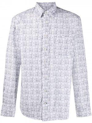 Рубашка с принтом Dockside из коллаборации Sebago Gitman Vintage. Цвет: белый
