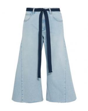 Джинсовые брюки-капри SONIA RYKIEL. Цвет: синий