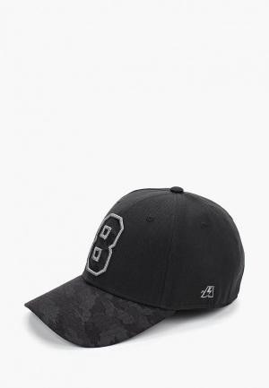 Бейсболка Atributika & Club™ №8. Цвет: черный