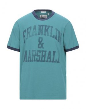 Футболка FRANKLIN & MARSHALL. Цвет: изумрудно-зеленый