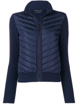 Куртка-бомбер свободного кроя Canada Goose. Цвет: синий