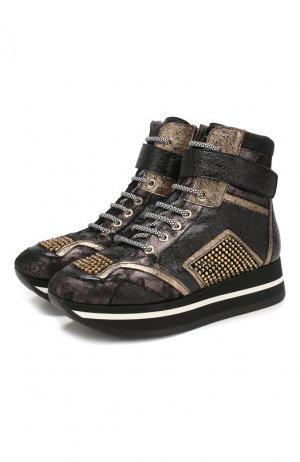 Кожаные ботинки Baldan. Цвет: черный
