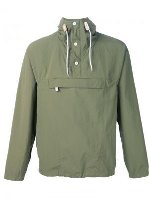 Куртка-пуловер с капюшоном Battenwear. Цвет: зелёный