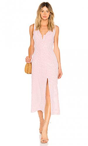 Платье миди lomax Privacy Please. Цвет: красный
