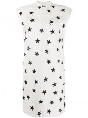 Платье с принтом 8pm. Цвет: белый