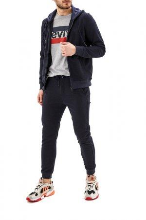 Костюм: толстовка, брюки La Biali. Цвет: темно-синий