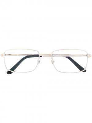 Очки в прямоугольной оправе Cartier Eyewear. Цвет: серебристый