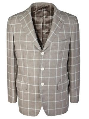 Классический пиджак ANDREA CAMPAGNA. Цвет: бежевый