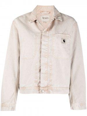 Джинсовая куртка из вареного денима Carhartt WIP. Цвет: нейтральные цвета