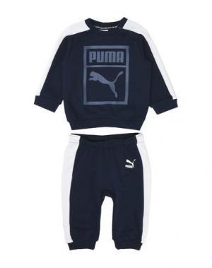 Спортивный костюм PUMA. Цвет: темно-синий