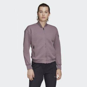 Флисовая куртка-бомбер для хайкинга TERREX adidas. Цвет: фиолетовый