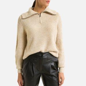 Пуловер LaRedoute. Цвет: каштановый