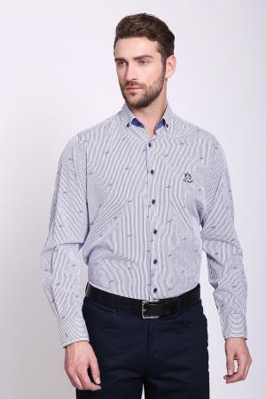 Рубашка с длинным рукавом Claudio Campione. Цвет: синий