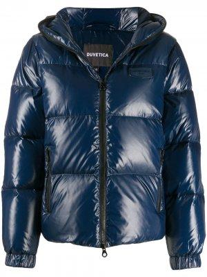 Стеганая куртка с длиными рукавами Duvetica. Цвет: синий