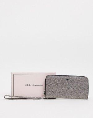 Блестящий кошелек на молнии -Многоцветный BCBGeneration
