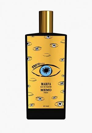 Парфюмерная вода Memo Marfa EDP 75 мл. Цвет: прозрачный