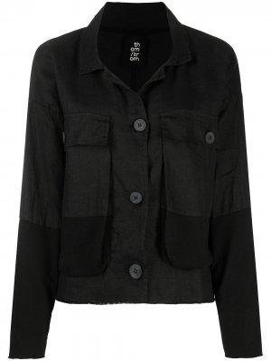 Джинсовая куртка с карманами Thom Krom. Цвет: черный