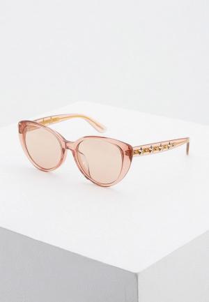 Очки солнцезащитные Jimmy Choo ELSIE/F/S W66. Цвет: розовый