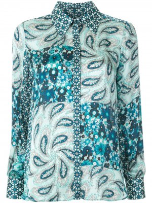 Рубашка Beck с принтом Elie Tahari. Цвет: синий