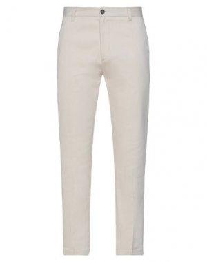 Повседневные брюки HAMAKI-HO. Цвет: слоновая кость