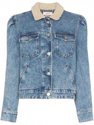 Джинсовая куртка Nolinea с воротником из овчины Isabel Marant Étoile. Цвет: синий