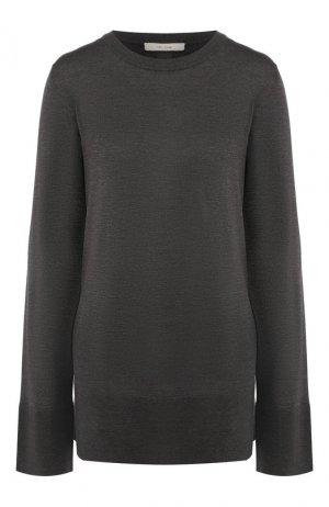 Шелковый пуловер The Row. Цвет: темно-серый