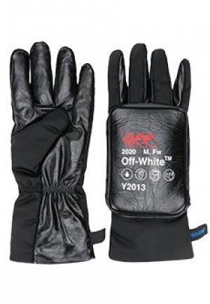 Перчатки OFF-WHITE. Цвет: черный