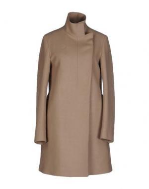 Пальто COSTUME NATIONAL. Цвет: бежевый