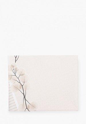 Скатерть Demodecor Twig-3, 140х140 см. Цвет: бежевый