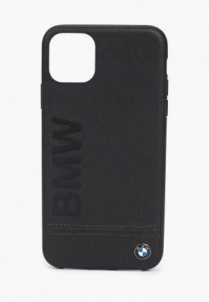 Чехол для iPhone BMW 11 Pro Max, Signature Logo imprint Leather Black. Цвет: черный