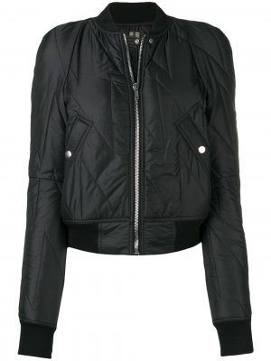 Дутая куртка-бомбер Flight Rick Owens DRKSHDW. Цвет: черный