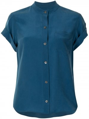 Блузка на пуговицах Equipment. Цвет: синий