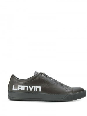 Кеды с логотипом LANVIN. Цвет: коричневый