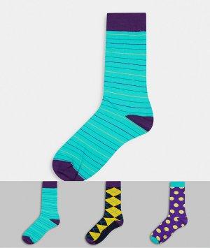 3 пары носков с принтом HS by -Мульти Happy Socks