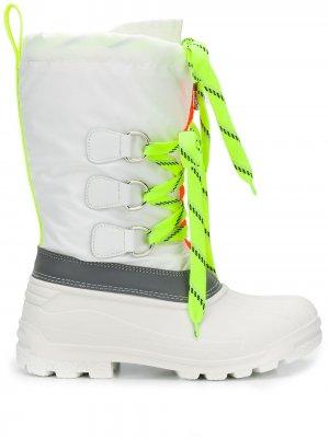 Ботинки Ski Fluo Sonar на шнуровке Dsquared2. Цвет: белый