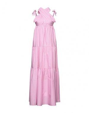 Длинное платье ATINSIGHT by ANDREA TURCHI. Цвет: розовый