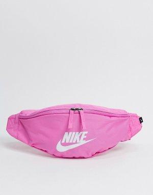 Ярко-розовая сумка-кошелек на пояс Heritage-Розовый цвет Nike