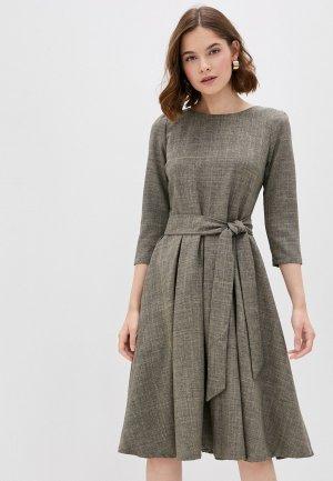 Платье Maurini. Цвет: коричневый