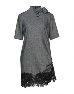 Короткое платье BABYLON. Цвет: серый