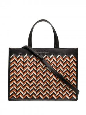 Плетеная сумка-тоут с верхними ручками Missoni. Цвет: черный