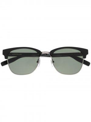 Солнцезащитные очки трапециевидной формы Montblanc. Цвет: черный
