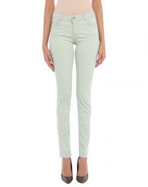 Джинсовые брюки SUPERTRASH. Цвет: светло-зеленый